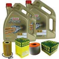 Inspection Kit Filter Castrol 10L Oil 5W30 for Audi A6 Avant 4G5 C7 2.0