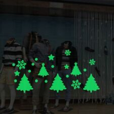 DIY Glow In The Dark Christmas Tree Snowflake Luminous PVC Wall Sticker Kids NEW