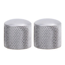 6mm Dia Domed Volume Tone Control Metal Knob Silver Electric Guitar Bass Parts