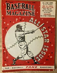 VINTAGE 1955 ~ Baseball Magazine (July) *All Star Issue*