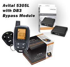 Avital 5305L Alarm & Remote Starter + DB3 Bypass Module Package 1500 Ft LCD