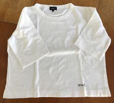 Margaret Howell Size 12 White Boxy Tee Shirt