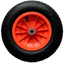 14 3.25-8 PU Puncture Proof Spoked Wheel Barrow Jockey 16mm bore 85mm Hub Width
