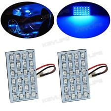 2x Universal Blue 24-SMD LED Panel Lights Interior RV Car Boat Ceiling Replace