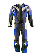 RETRO Dainese Lederkombi Gr. 42 Zweiteiler Motorradkombi Leather Suit  Blau