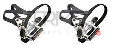 "Wellgo Road MTB pedals with Toe Clips & Straps 9/16"" Boron Axles"