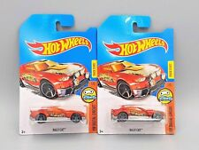 2017 Hot Wheels Rally Cat No Number Chase Car - Red - Set of 2