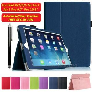 """For Apple iPad 8/7/6/5 Air 2/3 Pro 9.7"""" Pro 10.5"""" Smart Flip Stand Case Cover"""