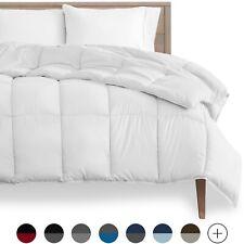 Premium Box-Stitched All Season Down Alternative Comforter/Duvet Insert - White