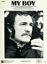 RICHARD HARRIS MY BOY SHEET MUSIC PIANO/VOCAL/GUITAR/CHORDS VERY RARE 1971 NEW