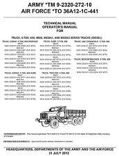 Truck 5 Ton M939 M939A1 M939A2 Operators Manual 2012 version