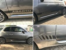Fiat 595 / 500 Abarth Carbon fibre Side Stripes Decals Stickers OE Style