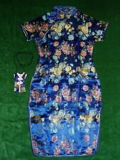 New Girls Blue Chinese/Oriental Dress 3-4 Years+Purse
