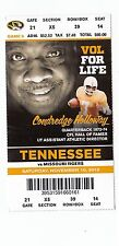 2012 TENNESSEE VOLS VS MISSOURI MIZZOU TIGERS FOOTBALL TICKET STUB 11/10/12