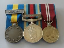 EU EUFOR Althea, Afghanistan, Diamond Jubilee, Court Mounted, Full Size Medals