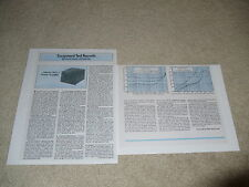Adcom Gfa-1 Amplifier Review, 2 pgs, 1980, Full Test