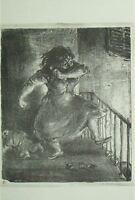 """A. Paul Weber Lithographie """"Die arme Puppe"""" 1974, handsigniert vom Künstler!"""