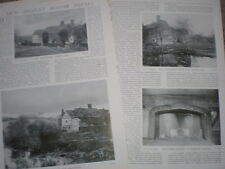 Photo article ancient manor houses Old Shoyswell and Socknersh 1904