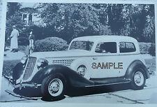 1935 Auburn 2 Door Sedan With Wire Wheels 12 X 8 Black & White Picture