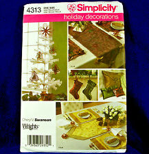 Simplicity 4313 Holiday Decorations Christmas Patterns