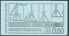 SWEDEN (H316) Scott 1303a, 1.70kr Marine Research Booklet
