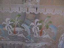 rideaux neuf dauphin/palmier L 45 cm vendu par tranche de 29 cm