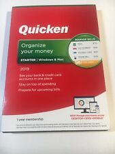 Quicken Starter 2019 1-year membership for Windows & Mac