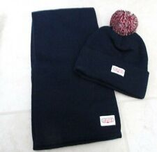 NEW LEVI'S Strauss Beanie Hat And Scarf Gift Set in Box Navy Blue