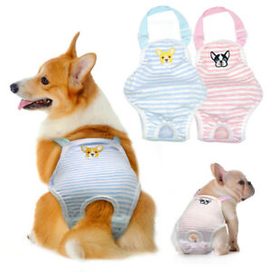 Reusable Dog Sanitary Nappy Diaper Pet Physiological Pants Shorts Underwear