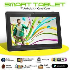 "Nuevo 7"" Quad Core Android 4.4 Kids Tablet PC 8GB Doble Cámara Wifi Hd Touch Pantalla"