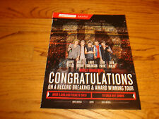 ONE DIRECTION 2014 congrats tour ad Harry Styles, Liam Payne, Zayn Malik, Niall