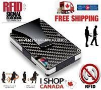 RFID Protection Wallet Anti Blocking Carbon Fiber Credit Card Metal Money