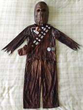 Boys Star Wars Chewbacca Fancy Dress Costume/Complete Outfit + Mask & Sound ~3-4
