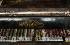 Framed Print - Run Down Old Piano John Broadwood & Sons (Picture Poster Art)