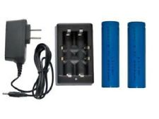 Universal Li-Ion Charger + 2-Pack 18650 3.7 Volt Lithium Ion 2200 mAh Batteries