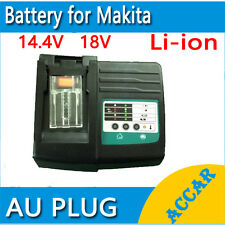 Aftermarket Battery Charger for Makita 14.4V 18V Li-ion BL1815 BL1430 BL1830 AU