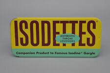 Vintage Isodettes Antibiotic Throat Lozenges Tin Isodine Pharmacal Corp USA 1962