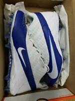 Mens Nike Alpha Huarache 6 Pro LAX Cleats Size 10 White Blue