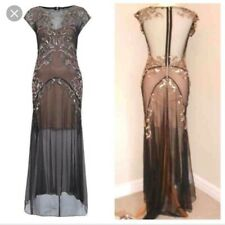 Miss Selfirdge  1920s Gatsby Charleston Sequin Embellished Evening Dress Sz 14