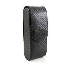 Edwin Jagger - Black Carbon Fibre Effect Textured Travel Razor Case in Gift Box