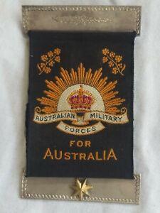 Australian WW1 Mothers & Widows ribbon with 1 star. 24/Bn KIA Gallipoli. AIF.