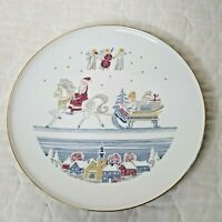 H&Co SELB Heinrich Santa Riding Horse Sled Plate Bavaria Germany Hand Painted
