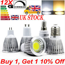 4/8/12X GU10 E27 E14 MR16 LED Spotlight 9W 12W 15W Light Bulb COB Reflector Lamp