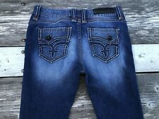 "Rock Revival Jeans Women 33x29 Waist 17 1/3"" Barby Mid-Rise Skinny Stretch Denim"