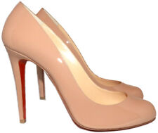 fe0c6ae2bc49 Christian Louboutin Decollete 868 Pumps 41 Nude Patent Leather Almond Toe  Shoes