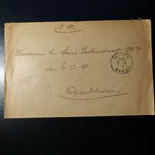 LETTER COVER STAMP TROUPES MOROCCAN TANGIER 1919 -> CASABLANCA