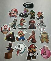 Super Mario Bros. Humor Decals for Skateboard Laptop Phone Guitar-Your Choice!!