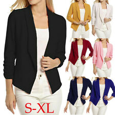 Women Slim OL Suit Casual Blazer Jacket Coat Ladies Long Sleeve Outwear Cardigan
