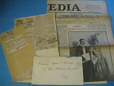 LOT DE 4 COUPURES DE PRESSE Sur CHARLIE CHAPLIN 1920 Fonds HENRI D'ALMERAS
