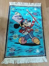 """VINTAGE MICKEY MOUSE THROW RUG MICKEY AS DRUM MAJOR """"THE MOUSKETEER 1970 22""""X36"""
